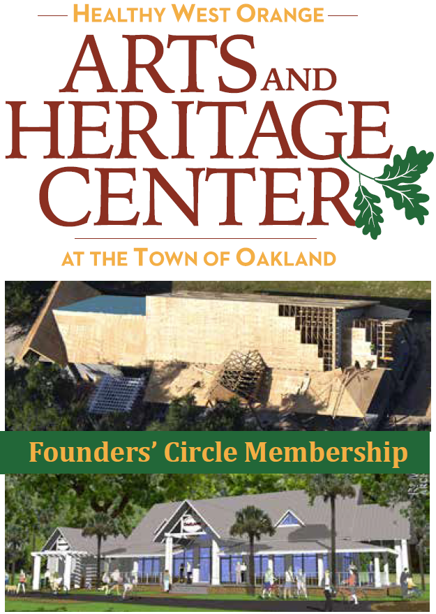 Founders Circle Membership Green Banner with HWO A&H Center Logo